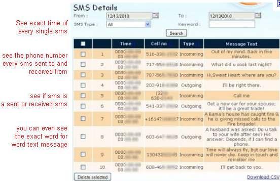 SpyBubble SMS